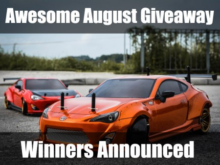 Awesome August Giveaway Winners Announced