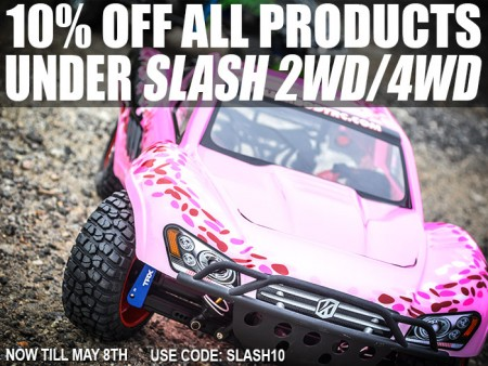 10% Off All Products Under Slash 2WD/4WD