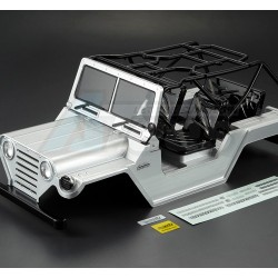 '' 'All' '1/10 Scale Crawler Finished Body WARRIOR Silver (Printed) Light buckets assembled'