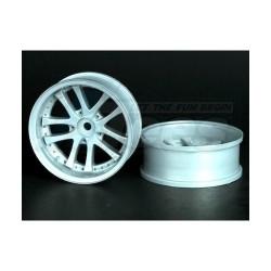 '' 'All' 'Narrow RWD LX 10 Spokes Offset 9 Wheels 52x20mm (Bright Silver) (2 pcs) '