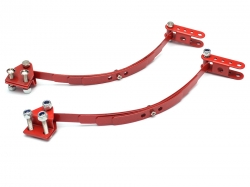 '' 'D90/D110' 'Steel Leaf Spring Set With Mount for RC4WD D90 -1 Pair Red'