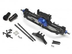 '' 'SCX10' 'CNC Machined Complete Assembled Aluminum Convertible Front or Rear Axle Blue'