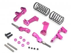 '' 'Sakura D4 AWD' 'Aluminum Front Upper Adjustable Arms Mono Shock System  - 1 Set Pink'