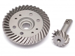 '' 'Slash 4X4' 'Steel Heavy Duty Helical Spiral Front/Rear Differential Ring & Pinion Gear (37T/13T) for All Traxxas 4WD 4X4'