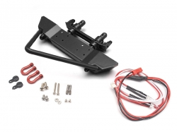 '' 'SCX10' 'Realistic Metal Front Bumper with Towing Hooks  - 1 Set Black'