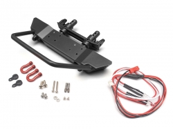 '' 'SCX10' 'Realistic Steel Front Bumper with Towing Hooks  - 1 Set Black'