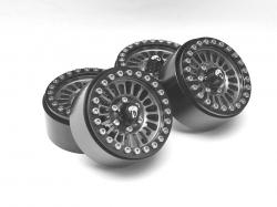 '' 'All' 'Venomous KRAIT™ 1.9 Aluminum Beadlock Wheels with +8mm Wideners (4) Gun Metal'
