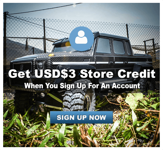 Sign up for $3 Store Credit